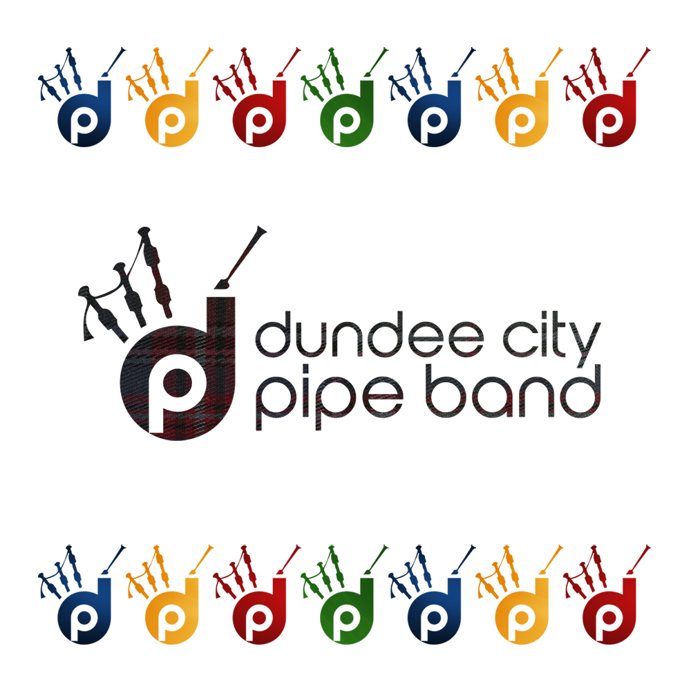 Dundee City Pipe Band logo web design