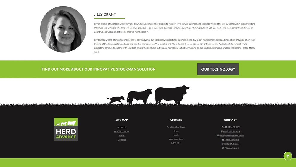 Herd Advance Dundee website design