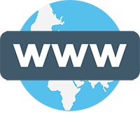 Website Address Domain icon for Web Design in Dundee