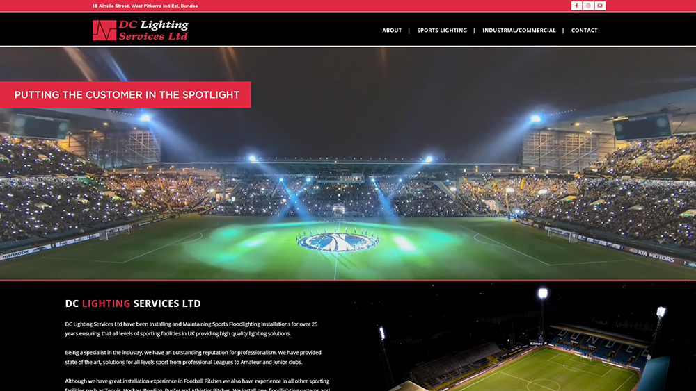 Small to medium business website design in Dundee