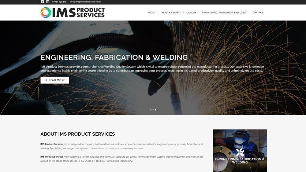 Small business web design example in Dundee