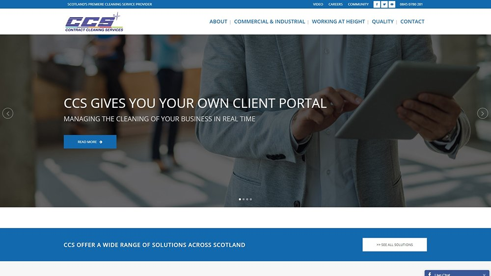Web design of a corporate website in Dundee