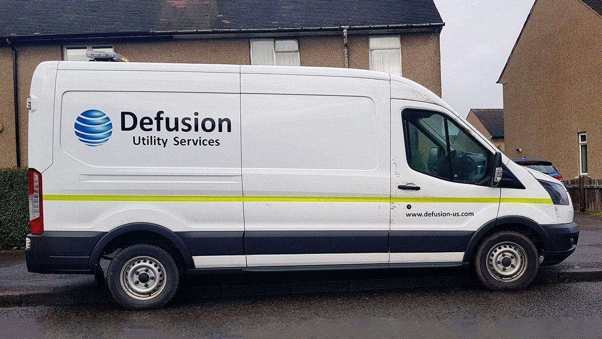 Corporate logo on a van in Dundee