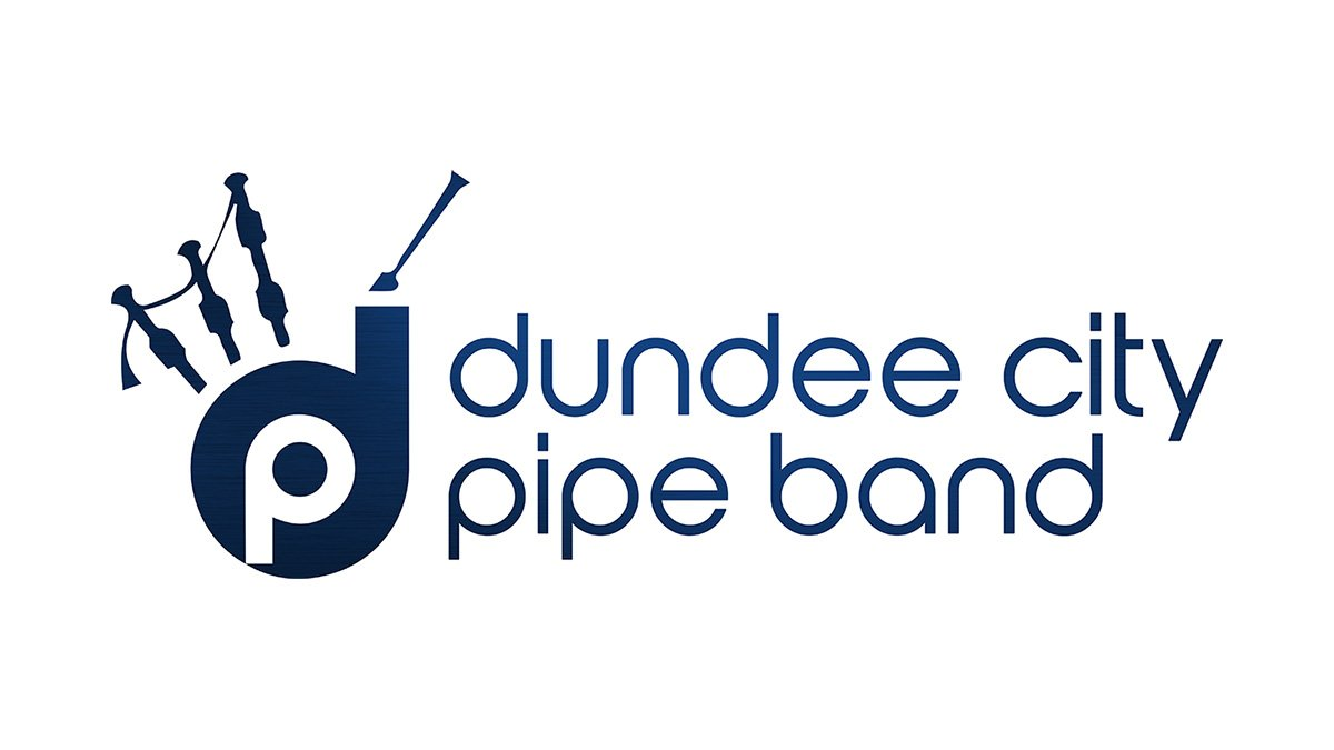 Dundee City Pipe Band logo with text