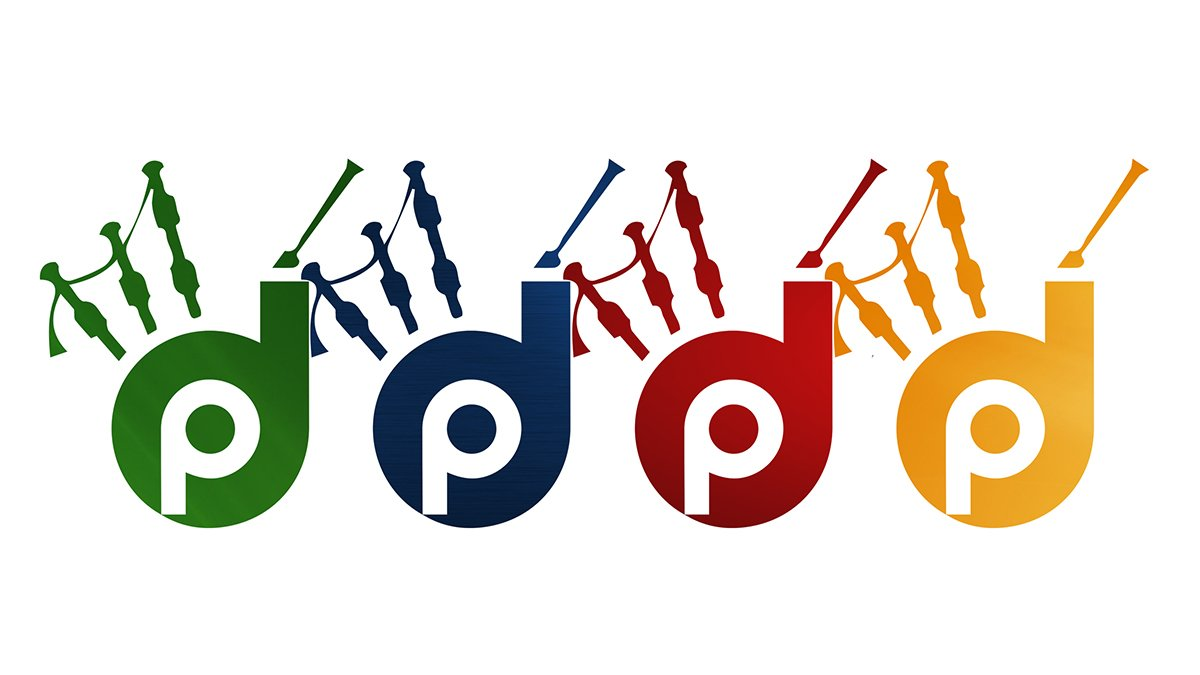 Dundee City Pipe Band multicoloured logo icon